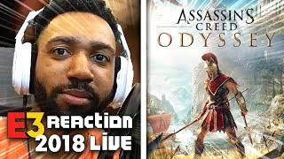 ASSASSINS CREED ODYSSEY LIVE REACTION! - SONY [E3 2018] | runJDrun