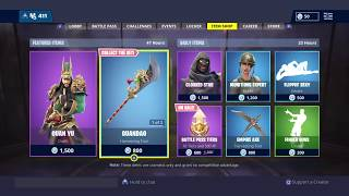 NEW GUAN YO SKIN IN FORTNITE BATTLE ROYALE LAST SEASON 6 ITEM SHOP SKIN