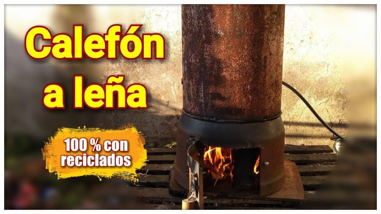 DIY Calefón a LEÑA !! con hierro RECICLADO #estufasdebajocosto