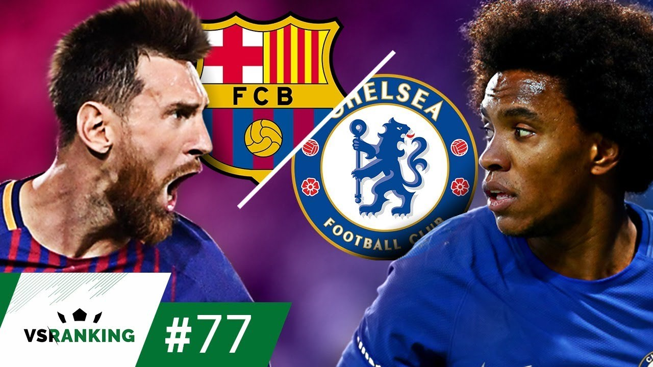 OS 10 MAIORES BARCELONA x CHELSEA NA CHAMPIONS LEAGUE - VSRanking #77 #1