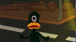 alien duck is lost in the human wilderness