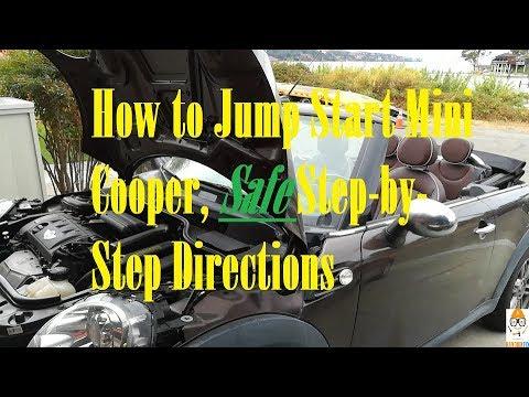 How To Jump Start 2008 2009 2010 2011 2012 Mini Cooper Safe