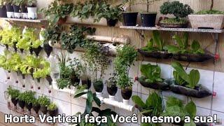6 Ideias para Você mesmo fazer a sua Horta Vertical com Irrigação Automática