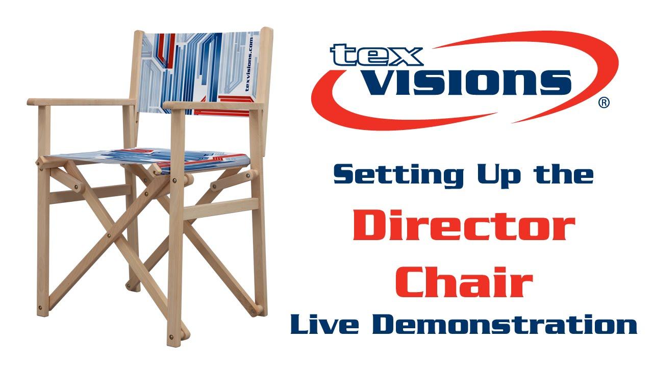 Custom Director Chair Setup