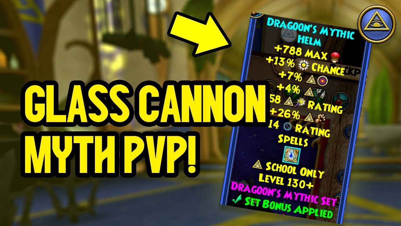 Wizard101: MAX LEVEL MYTH PvP (130): Bringing Back the Glass Cannon!