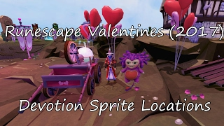 Runescape Devotion Sprite Locations (Valentines Day 2017 Event)
