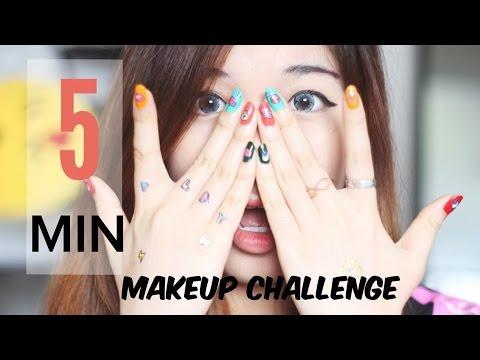TRANG ĐIỂM TRONG 5 PHÚT / 5 MINUTE MAKEUP CHALLENGE (WITH CC ENGSUB)