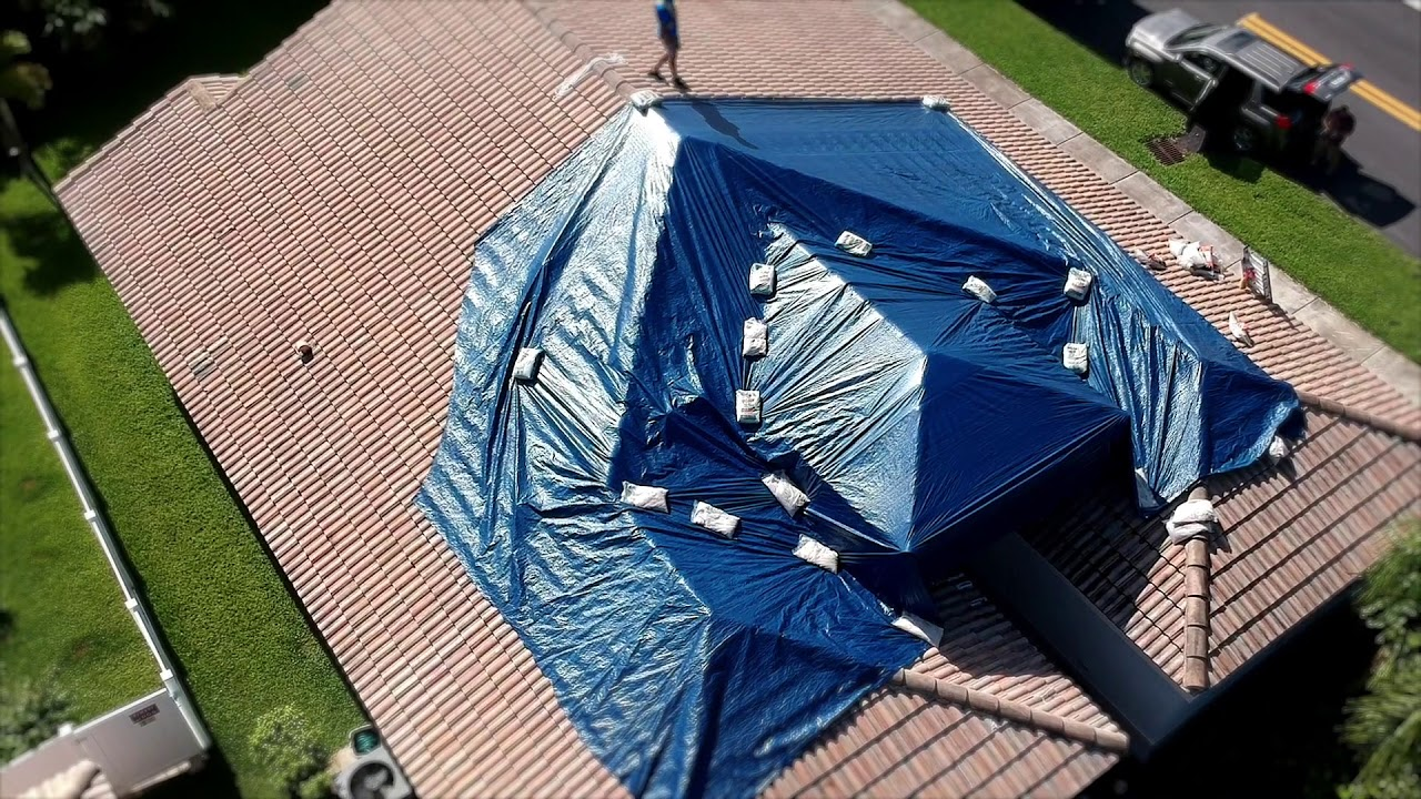 Roof Tarp Installation Youtube