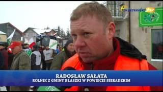 ROLNICY BLOKOWALI DROGĘ W BŁASZKACH -  BORYSŁAWICACH - siewie.tv
