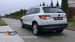 Skoda Karoq 1.5 TSI | RCP Exhausts | Cat-Back Exhaust + valve