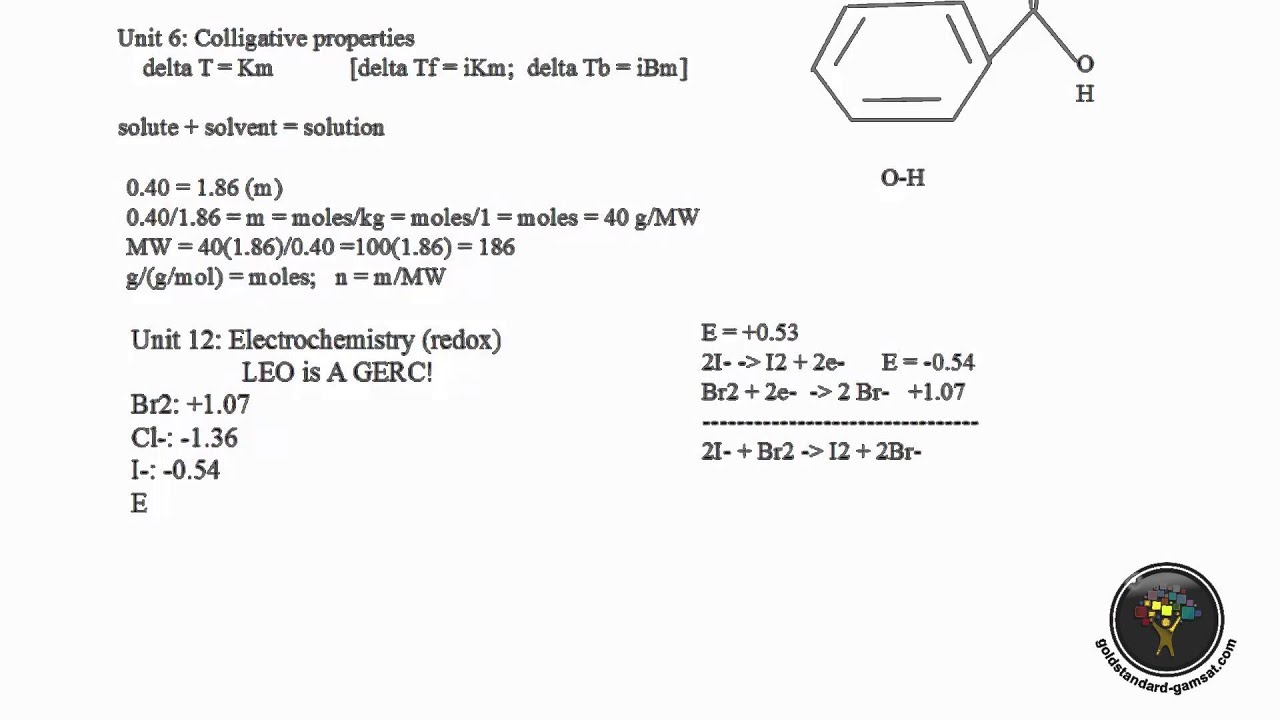 How to Solve GAMSAT Chemistry Questions - Unit 12 ACER GAMSAT Red Booklet  Q29-33