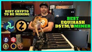 The BEST ZenCash / Zcash Equihash Miner DSTM vs Bminer + What Coins I