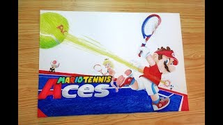 Speed Drawing Mario Tennis Aces