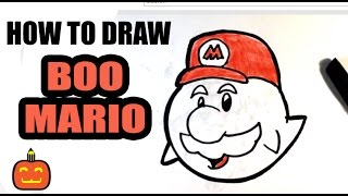 How to Draw Ghost Mario - Halloween Drawings