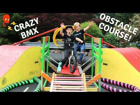 Crazy BMX Obstacle Course!!!