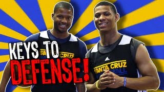 KEYS TO DEFENSE! Scott Machado and Stefhon Hannah, Santa Cruz Warriors Basketball #DubsAurQs