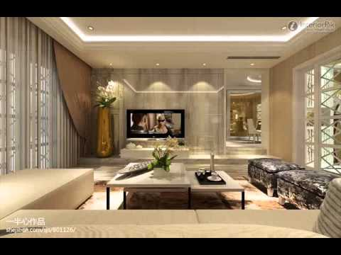 interior pembatas ruang tamu dan keluarga Nirwan Dewanto