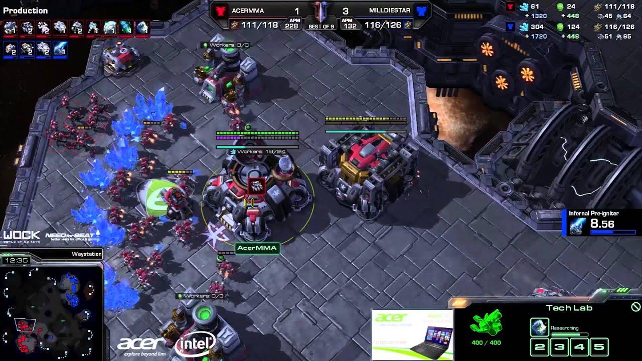 DieStar vs. MMA (ATC) - Millenium vs. Acer - Game 5 - StarCraft 2
