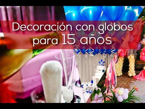 Decoracion con globos para 15 a os - Decoracion con globos 50 anos ...