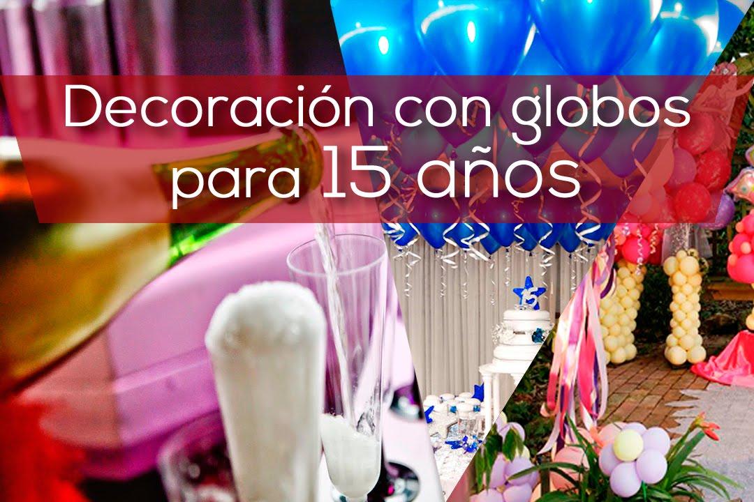 Decoracion con globos para 15 a os youtube for Decoracion de pared para 15 anos