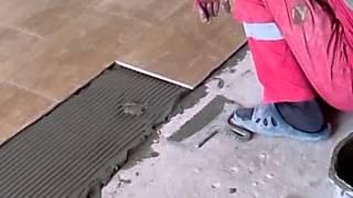 Как ложить плитку на пол