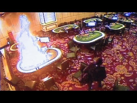 CCTV footage of Manila casino attack