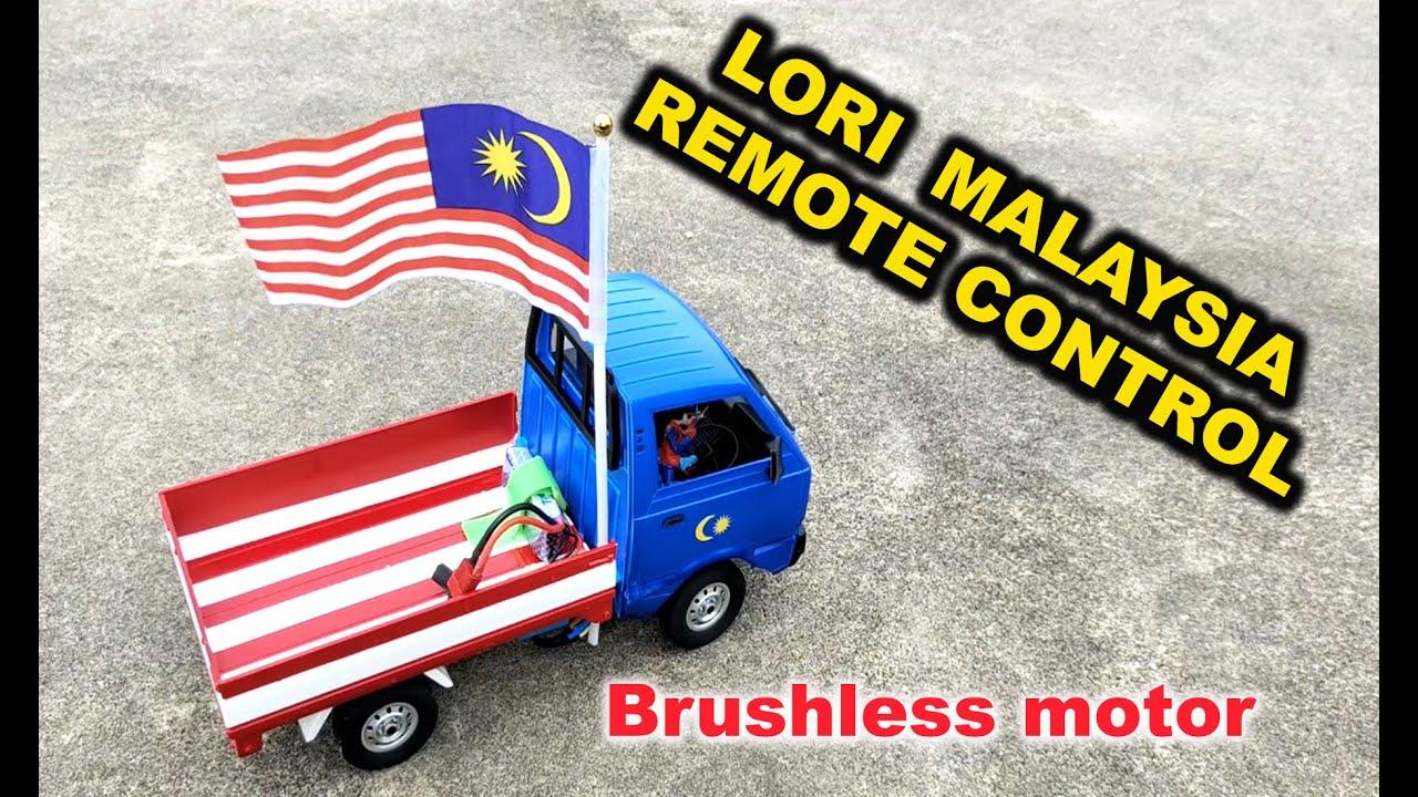 LORI KAWALAN JAUH VERSI MERDEKA MALAYSIA | TEST TOP SPEED LORI WPL D12 BRUSHLESS MOTOR