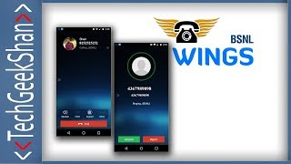 BSNL Wings Mobile App Activation and Calling | First look