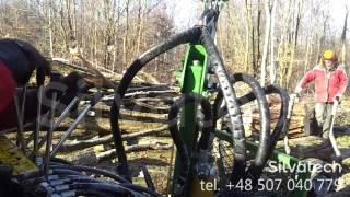Lekka przyczepa do transportu drewna z żurawiem Kellfri SV27