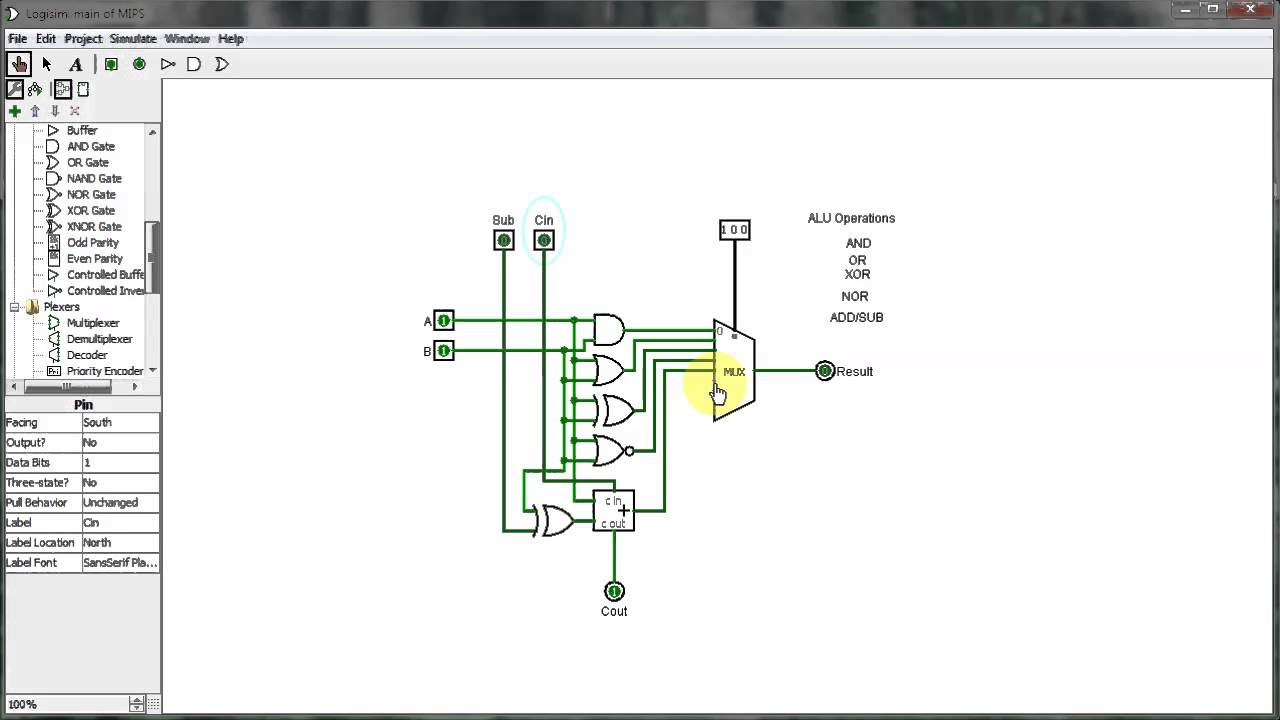small resolution of cse 230 logisim alu tutorial youtube rh youtube com circuit solver circuit solver