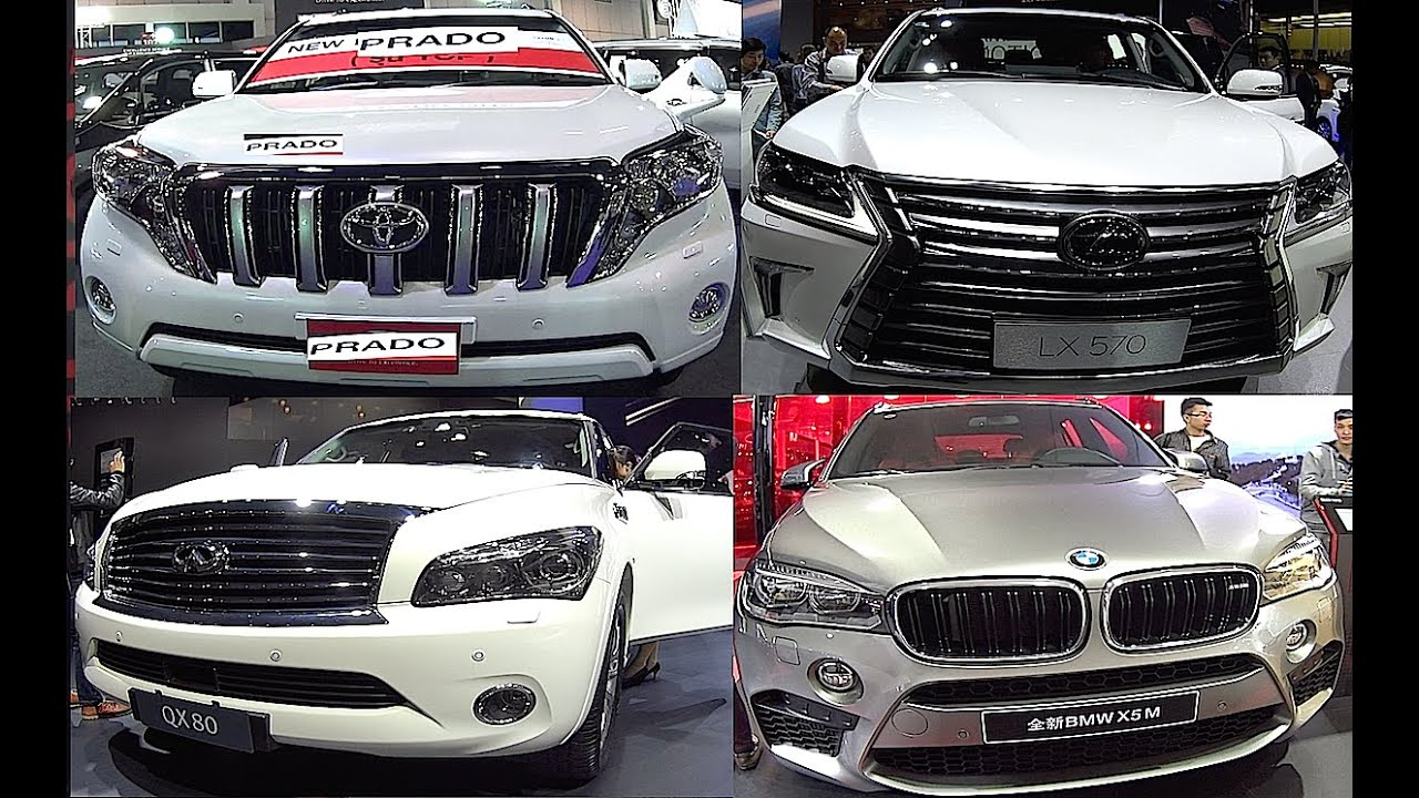 Toyota Land Cruiser Prado VS Infinity QX80 VS Lexus LX570 VS BMW X6 ...