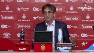 Rueda de prensa de Fernando Vázquez tras el RCD Mallorca vs Girona FC (1-0)