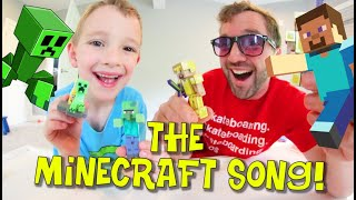Father & Son Sing THE MINECRAFFT SONG! / Creepers! Creepers!