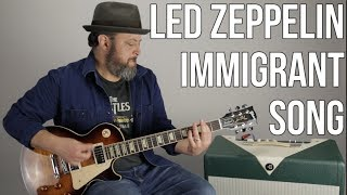 """Led Zeppelin """"Immigrant Song"""" Guitar Lesson"""