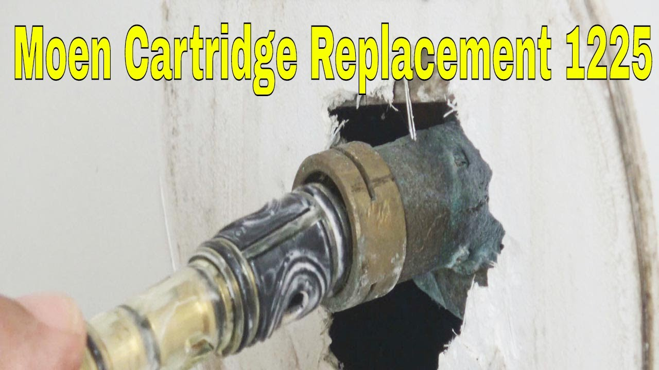 1225 Cartridge Replacement Moen Tub And Shower Youtube