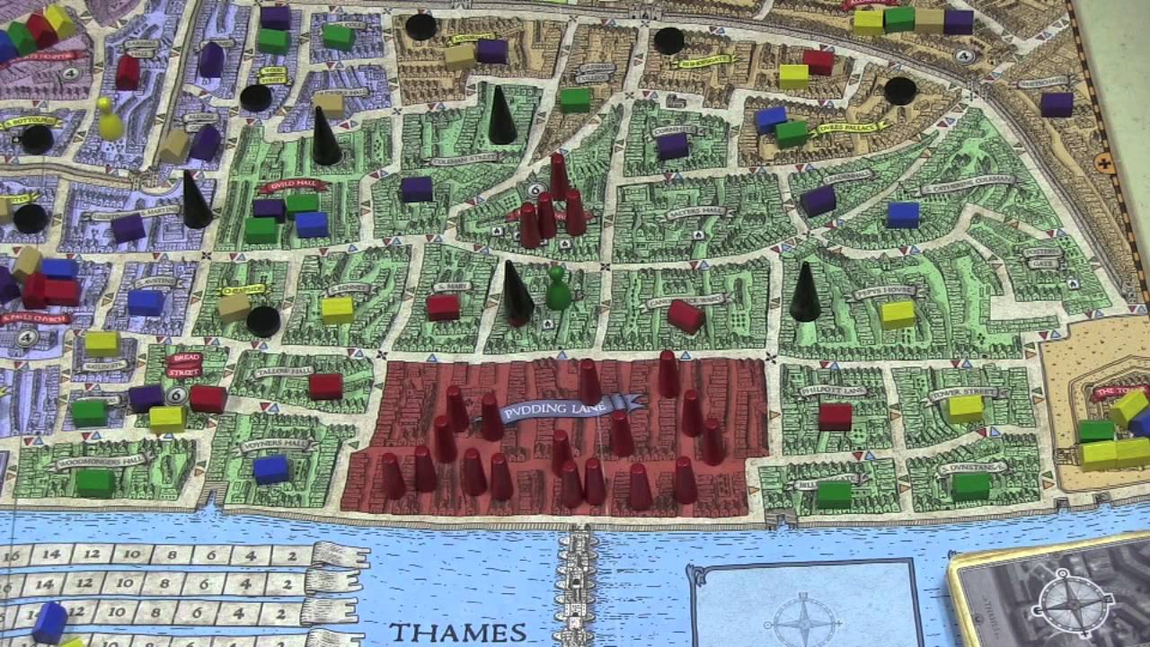 Great Fire Of London Map.Great Fire Of London Preview With Tom Vasel Youtube