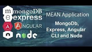 MEAN Stack Tutorial #1 MongoDb, Express, Angular CLI and Node