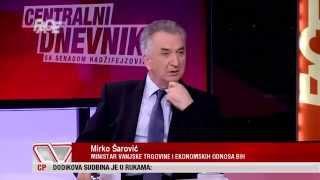 Mirko Šarović u CD-u: Dodik me nazvao na telefon i pohvalio