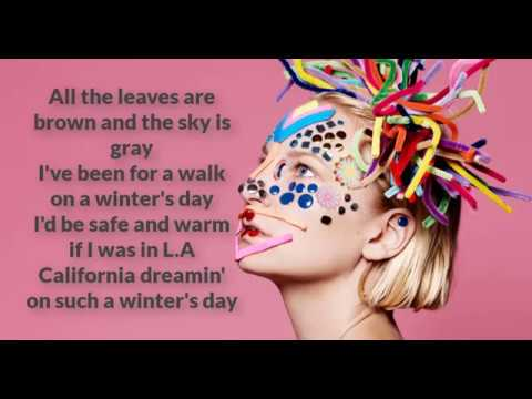SIA CALIFORNIA DREAMIN lyrics