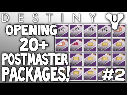 Destiny opening 20 postmaster packages live dead orbit rank 10