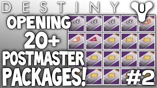 destiny opening 20 postmaster packages live dead orbit rank 10 package ep 2