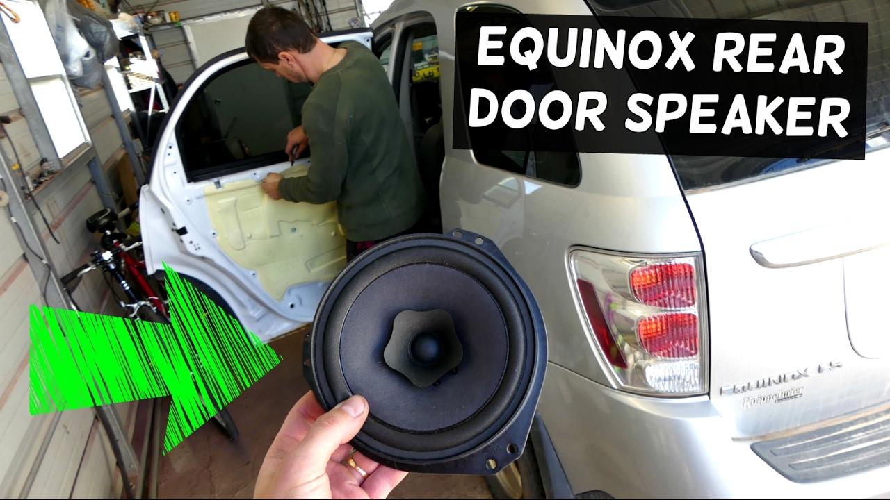 2005 Chevy Equinox Door Wiring Harness Schematics Diagram Chevrolet Rear Speaker Removal Replacement Youtube
