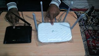 connect two wifi routers - tp link wifi router - dlink wifi router (Hindi)