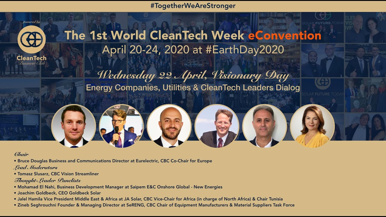 Energy Companies, Utilities & #CleanTech Leaders Dialog at The 1st World CleanTech Week... #1stWCWeC