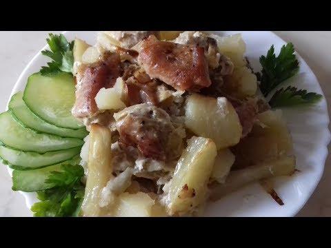 Свинина с картофелем в духовке. Очень сочное и невероятно вкусное блюдо
