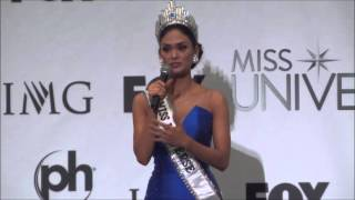 miss universe 2015 16 winner pia alonzo wurtzbach from the philippines speaks at press conference