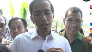 03 Apr 2014 Gub Jokowi meninjau pembangunan Waduk Cilangkap, Jakarta Timur