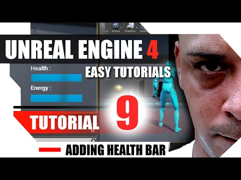 Unreal Engine 4 Complete Tutorials - Tutorial 9 - Adding Health Bar to Character and HUD thumbnail