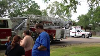 House Fire In Victoria Texas - Firefighters Work Diligently To Extinguish Flames thumbnail