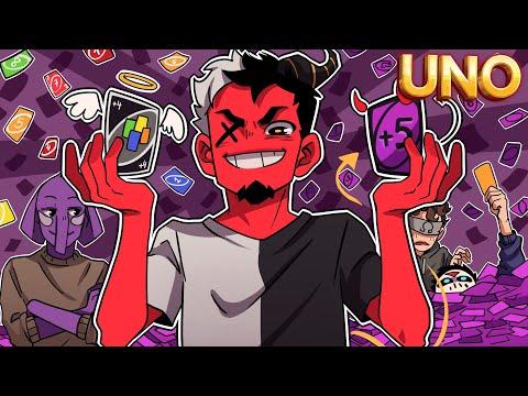 UNO HAS TURNED TO THE DARK SIDE! | Uno Flip (w/ H2O Delirious, Ohm, & Rilla) |